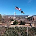 Veterans Memorial next door