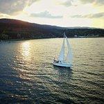 Sunset yacht view