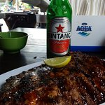 Beer and spicy.ribs