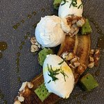 Banane rôtie, cacahuète, curcuma, cake persil.