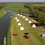 Ariel view of our Tipis