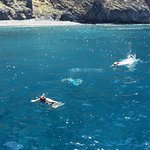 Snorkeling at the feet of Los Gigantes (photo taken by Eileen)