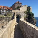 Ancient city walls of Dubrovnik old town