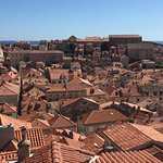 View from the ancient city walls of Dubrovnik old town