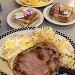 ham n eggs/ omlette of the day