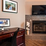 Fireplace and Business Center Desk