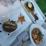 Palermo Pork, Triad duck mofongo & Thai Pasta with shrimp