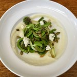 Fiddleheads and Asparagus with Pumpkin Seeds