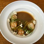Digby Scallops with Feta and Fennel in Pernod Broth