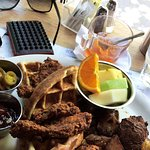 Chicken and Waffles + Old Fashioned
