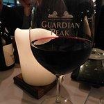 Glass of Guardian Peak Red Wine