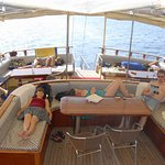 Relaxing in 12 Island Sailing Boat Trip