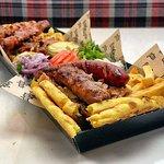 Souvlaki + Bifteki