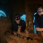 Posando debaixo d'água com o filhão!!!