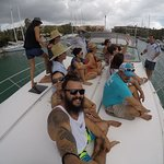 Compas SUP team party on a rent yacht