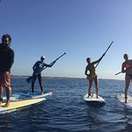 Just having fun on our paddle boards