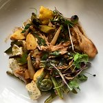 Rabbit with gnocchi and spring vegetables