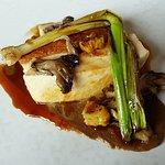 Chicken , wild garlic
