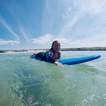 Paddling Out Back in the Cornish Sun