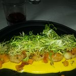 Scallops with butternut squash. I requested mine made without the bacon.