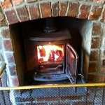 Roaring fires on cold nights in both rooms