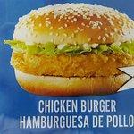 Hamburguesa de pollo, algo nuevo introducido en la carta