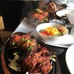 Tandoori lamb and tandoori chicken