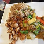 chicken teriyaki lunch plate