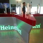 The Heineken star bar where you can pull your own drink!