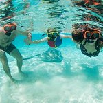 Snorkel in the crystal clear blue waters of the Caribbean with Five Star Charters