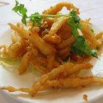 Deep fried Silver thread Sprats with seasoned peppered salt batter