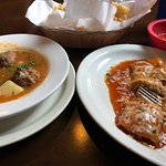 Meatball soup & Enchiladas