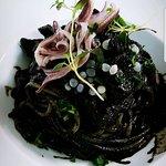 Spaghetti al nero di Seppia con uova