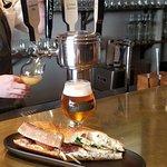 Cultivar Beer on Tap with our Pork Belly Bahn Mi