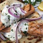 Salmon Souvlakis