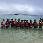Beach snorkeling. Group trip with my friends. Yours truly is 2nd from right.