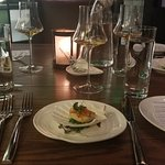 Second course - delicate scallop matching a delicate Scotch!