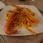 Scampi with Homemade fresh pasta