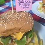 Beef and Cheese Burger, prepared with love
