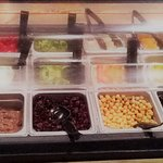 fresh and delicious salad bar
