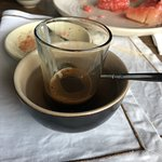 Vietnamese coffee, with condensed milk
