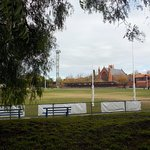 Seating and playing field
