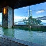 大浴場から鳴門海峡大橋をご覧いただけます
