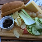 Very sad ploughman's lunch. They shoudl do better.
