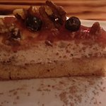 postre espectacular de tarta de arándanos