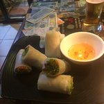 Fresh spring rolls, nice suggestion to get started