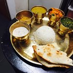 Typical Nepalese daily meal (so called Thali)