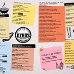 Here is our new menu. Gyros, Greek Cuisine, Burgers and veggie options!!