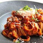 Summer Menu / Tagliatelle with prawns – Fresh homemade tagliatelle from hand-made pasta