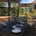 romantic garden restaurant